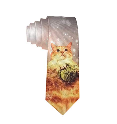 Fashion 3D Printed A Fat Cat Mens Ties - Neckties Gift for Men, Boys, Teens]()