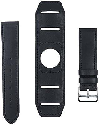 @ccessory Piel Genuina 22mm Correa de Reloj Cuff Pulsera + Herramienta para Samsung Gear S3 Frontier/Gear S3 Classic Smartwatch
