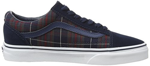 Adulto Dress Blues U Vans Blue Plaid Zapatillas Old Unisex Skool q4xaFXv6w