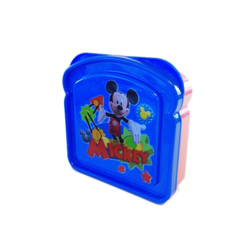 Mickey Mouse Sandwich Box - Snack and Lunch Storage Container (Mouse Mickey Storage Containers)