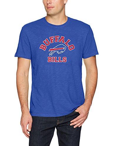 (NFL Buffalo Bills Men's OTS Slub Tee, Distressed Opal - Royal,)