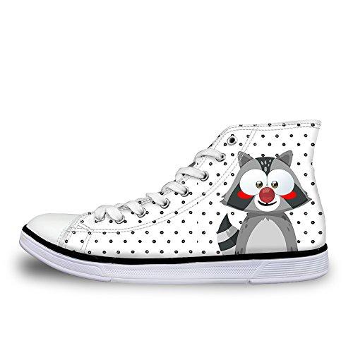 ThiKin スニーカー キャンバス シューズ 帆布 個性的 かわいい 動物 シンプル 柄 3Dプリント カジュアル 靴 軽量 通気 おしゃれ ファッション 通勤 通学 プレゼント