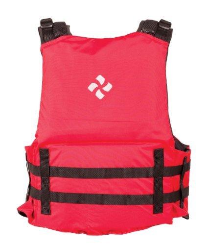 Extrasport Canoe (Extrasport Eagle Canoe/Kayak Rafting Fishing Personal Flotation Device/Life Jacket, Red/Black, Medium/Large by)