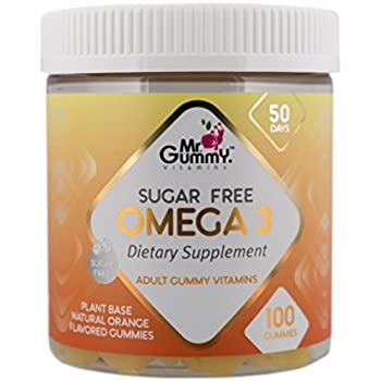 Mr Gummy Vitamins Omega 3 Sugar Free Premium Supplement | Rich In 100% Natural Non