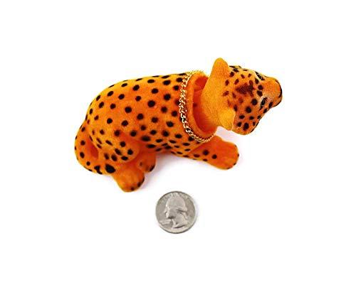 Ferocious Bobblehead Leopard with Car Dashboard Adhesive Mini
