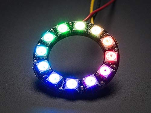 Adafruit NeoPixel Ring - 12 x 5050 RGB LED with Integrated Drivers [ADA1643]]()