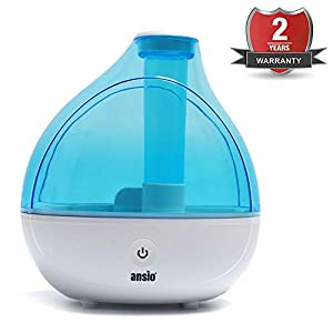 Ultrasonic Cool Mist Humidifier 1500 ml, with Up to 16 Hours Continuous Use – Humidifiers for Home, Yoga, Office, Bedroom- Replacement Guaranteed [NOT an Aroma Diffuser]