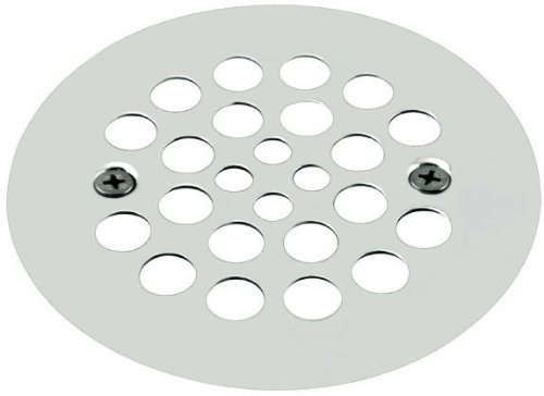 """Westbrass 4-1/4"""" O.D. Shower Strainer Plastic-Oddities Style, Polished Chrome, D3193-26"""