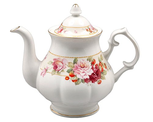 Gracie Bone China 5-Cup Teapot, Pink Peony - Peony Pink China