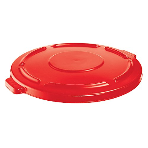 (Rubbermaid FG264560RED 4506202 BRUTE Flat Lid for 44 gal Round Containers, Red)