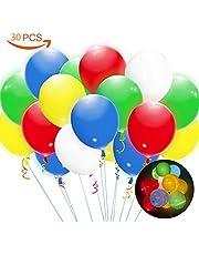 Honkid Ballons LED Blanc Ballons Lumineux, Ballon de Baudruche Anniversaires , Décoration Lumineuse pour Mariage Soirée Fête, Noël, Anniversaire,Blanc