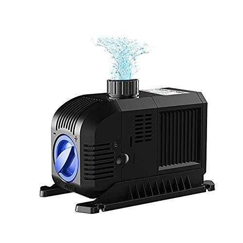 DJLOOKK Sterilizer Submersible Filter Pump 1321 GPH Hydroponics Submersible Water Pump 80W for Indoor Outdoor Fountain Pond Aquarium Fish Tank with 8.2Ft Power Cord ()