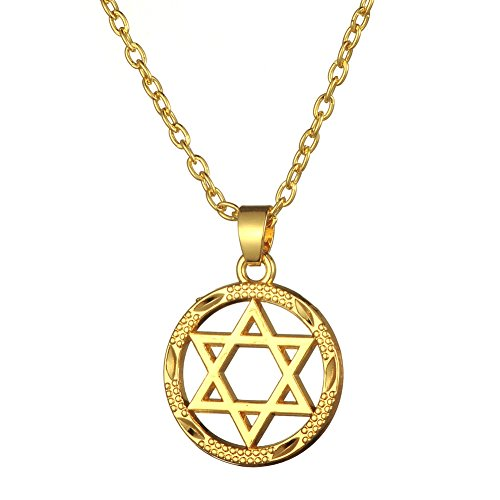 My Shape Star of David Jewish Religious Medal Pendant & Chain Necklace