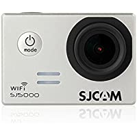 SJCAM SJ5000 Novatek 96655 14MP 170° Wide Angle 2.0 LCD 1080P Sport Action Camera Waterproof Cam HD Camcorder Outdoor for Vehicle Diving Swimming (Silver)
