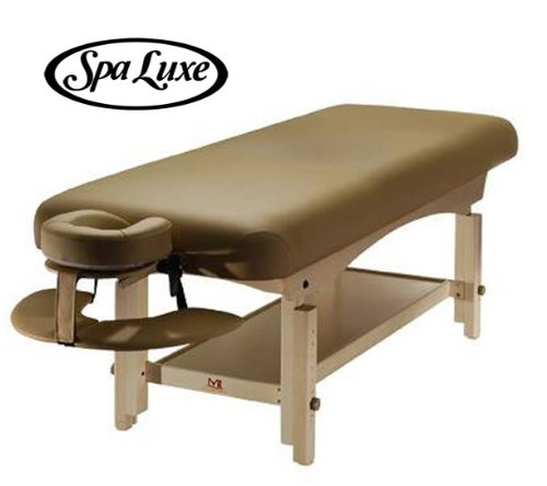 Stationary-Massage-Table-with-Headrest-and-Arm-Shelf-BEIGE