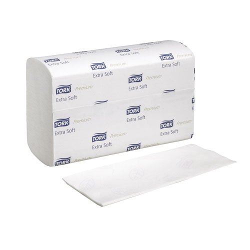 Tork 100297 Premium Extra Soft Xpress Multifold Hand Towel, White with leaf (Case of 21 Packs, 100 per Pack - 2100 Towels) ()