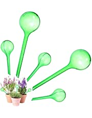 OBANGONG 5 PCS Plant Watering Bulbs Automatic Self Watering Globe Ball Plastic Travel Dripper Irrigation Devices for Indoor and Outdoor Plants