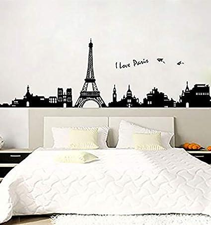 Urparcel Removable Romantic Art Paris Wall Sticker Decal ...