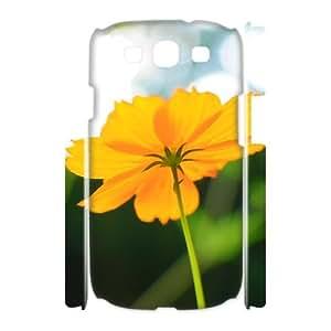 3D Binocara Cosmos Flower in Late Summer Samsung Galaxy S3 Case, Case for Samsung Galaxy S3 Mini I8200 {White}