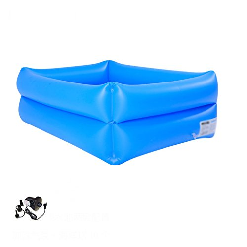 LQQGXL,Bath Blue children's inflatable pool thick tub eco-pool Inflatable bathtub ( Color : Electric pump ) by LQQGXL