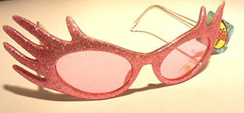 Dr. Peepers Pink Glitter Hands Sunglasses Party Favors Costume - Peepers Dr Sunglasses