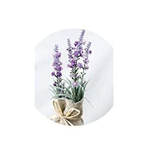 Artificial Lavender Artificial Plant Burlap Bonsai Gypsophila Home Garden Christmas Decor Magnet Flower with Vase Lavender Potted Grass Gift 1 Set,A 56