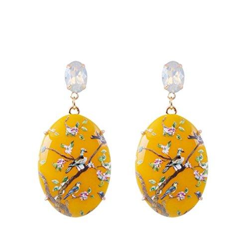 YJYdada Earring, Steel Gold Women Girl Earrings Fashion Jewelry 1Set Stud Earring (B)