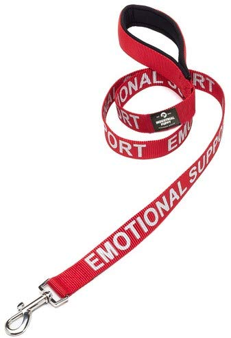 Industrial Puppy Service Dog Leash with Neoprene Handle and Reflective Emotional Support Lettering for Emotional Support Animal Vests
