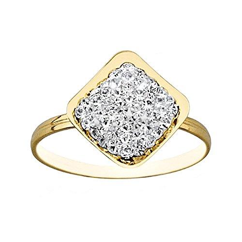 Bague 18k résine cristal de diamant d'or [AA6757]