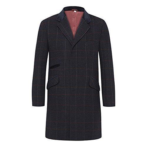 Men's Herringbone Overcoat - 44-46 m1s1D