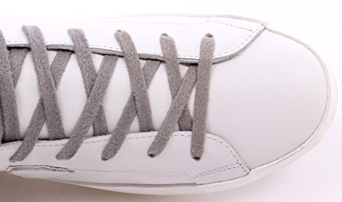 Zapatos Sneakers Hombre PHILIPPE MODEL Bike Veau White Gray Leather Italy New