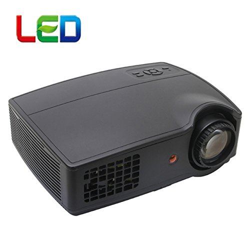 High quality LCD LED 2800lumens Portable LED HD projector 1280 * 800 Support Full HD 1080p Video 3D LED Home Projectors lcd Beamer Proyector VGA B077PZHJ6J