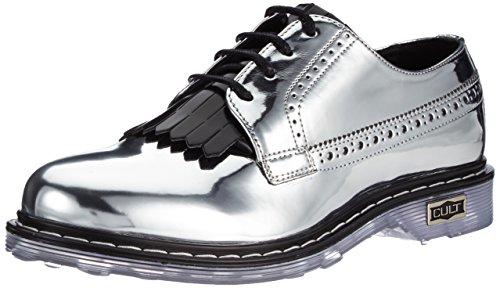 Cult Sabbath Low 756, Chaussures à Lacets Femme Multicolore (Silver/Black 550)