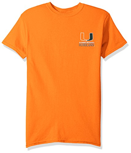 NCAA Miami Hurricanes Team Mosaic Short Sleeve Shirt, Large, Orange