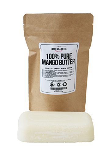 100% Pure Mango Butter - Can Substitute Shea Butter in Soap and Lotion Recipes - Moisturizing, Scent-free, Hexane-free - 8 oz by Better Shea Butter