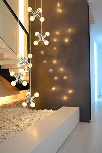 Led Cluster Chandelier Led Multi Pendant Jax DNA Cascade Chandelier White Opal Ball Dimmable Droplet Swirl Pendant Lamp