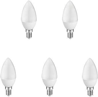 A2BC LED Lighting Bombillas Alta Potencia Luz E14, 6 W, Blanco Neutro 4000K, Pack de 5 unidades: Amazon.es: Iluminación