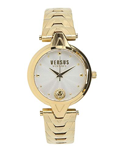 Versus by Versace Women's V Bracelet Quartz Watch with Stainless-Steel Strap, Gold, 18 (Model: SCI250017) (Versace Bracelet)