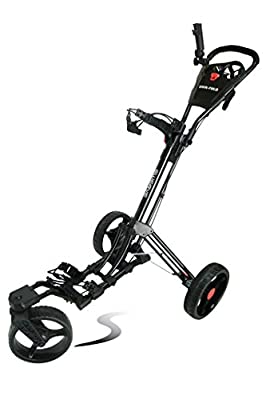 Swerve Founders Club 360 Swivel Wheel Qwik Fold Golf Push Cart from Founders Club