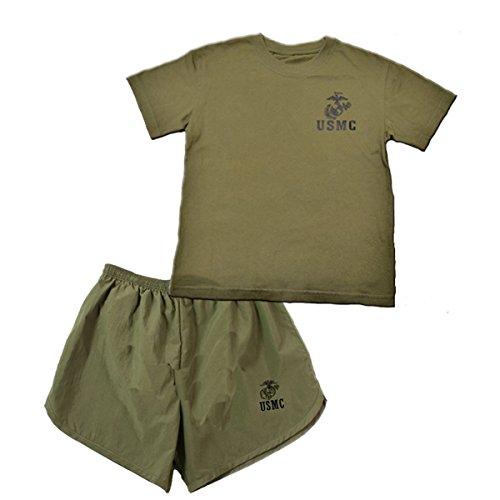 (U.S.M.C. 2 pc Kids Marines PT Short Set Large (12-14))