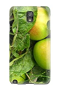 Hot Fashion IQIjQDg1424YldfH Design Case Cover For Galaxy Note 3 Protective Case (green Apples) by supermalls