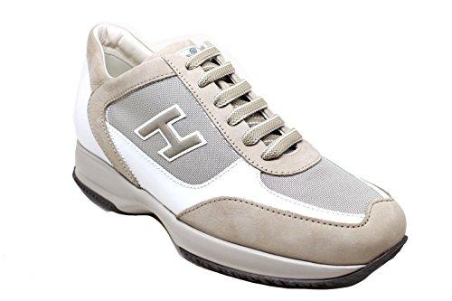 Hogan Sneakers Uomo HXM00N0Q102IVF637M Pelle Beige