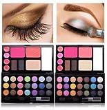 Best Lovestore2555 Lipsticks - Eyeshadow Palette Lip Gloss Foundation Powder Blusher Set Review