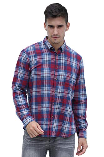 Custom Button Down Shirts (Broadlands Men's Long-Sleeve Casual Button Down Custom-Fit Flannel Shirt)