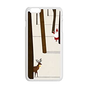 Senta Claus And Deer Cartoon Creative Cell Phone Case For Iphone 6 Plaus
