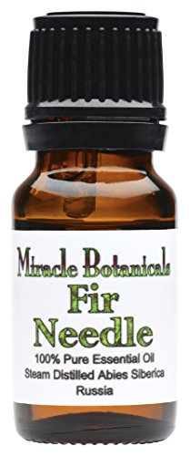 Miracle Botanicals Fir Needle Essential Oil - 100% Pure Abies Siberica - Therapeutic Grade - 10ml
