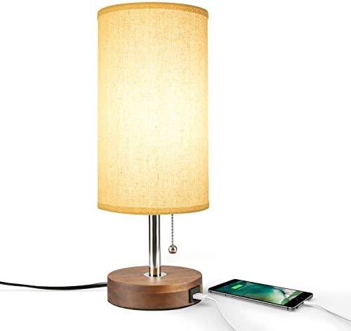 Seealle Nightstand Charging Lampshde Convenient product image