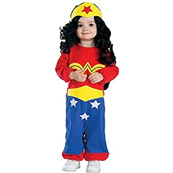 Image Unavailable. Image not available for. Color Wonder Woman Baby Costume  sc 1 st  Amazon.com & Amazon.com: Justice League Wonder Woman Romper Costume: Clothing