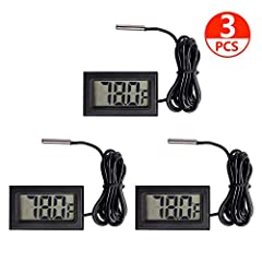Specifications: Temperature Range:-58°F ~ + 199°F Usage temperature: -14°F ~ +122°F Accuracy:±2°F Distinguishing temperature: 0.1°F Unit dimensions: 48 x 28 x 15mm LCD Dimension:46.5*27mm Cable length: 1M(3.3 Feet) Weight: 30g Package Include...