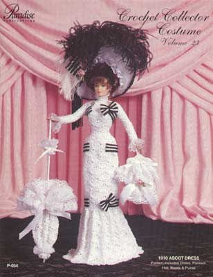 [Crochet Collector Costume: 1910 Ascot Dress Pattern for Crochet P-034] (1910 Costumes)